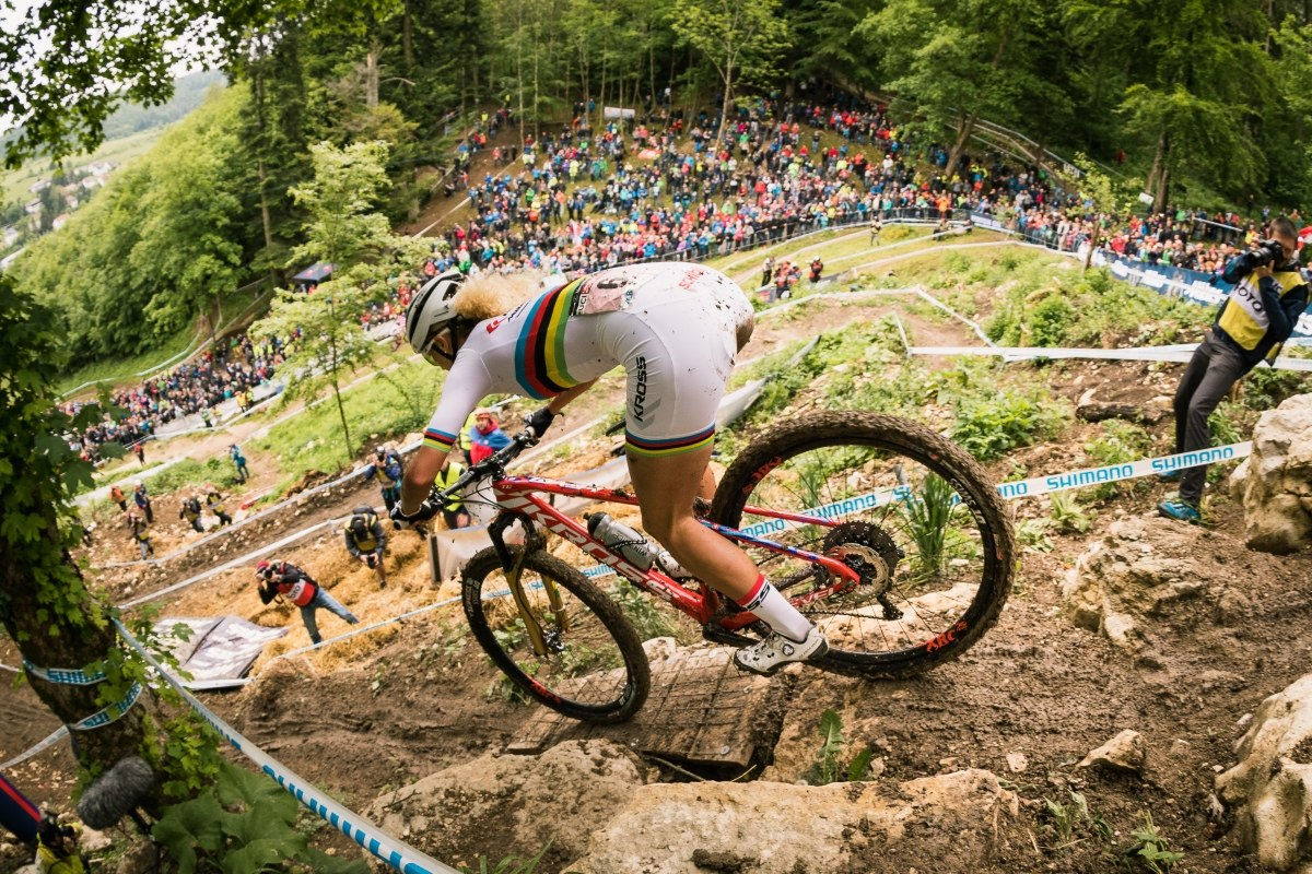Mercedes-Benz UCI Mountain Bike World Cup 2018 in Albstadt - J. Neff im Bullentaele